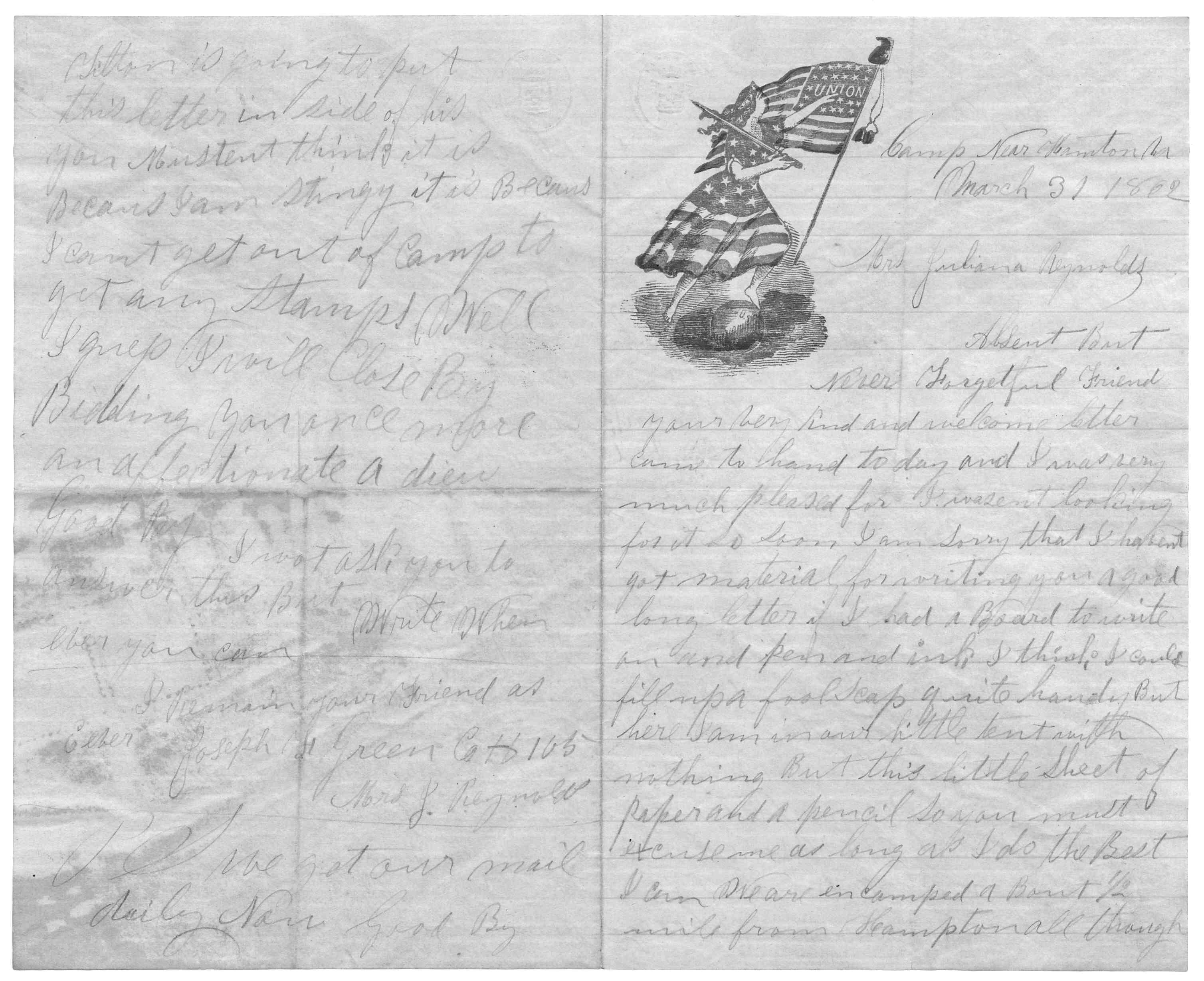 Letter From Joseph F Green To Juliana Smith Reynolds