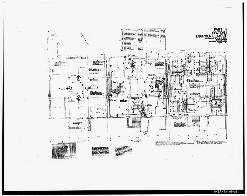 38 Photograph Of A Line Drawing Part Iii Section 1 Equipment Layout Buildings G 1 To G 10