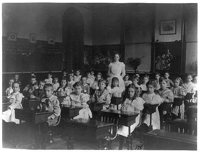 Classroom scenes in Washington, D.C. public schools: general classroom scenes, 1st Division