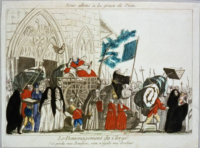 French Revolution-era political cartoon about the clergy