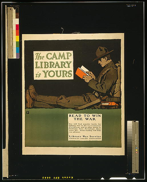 The camp library is yours - Read to win the war