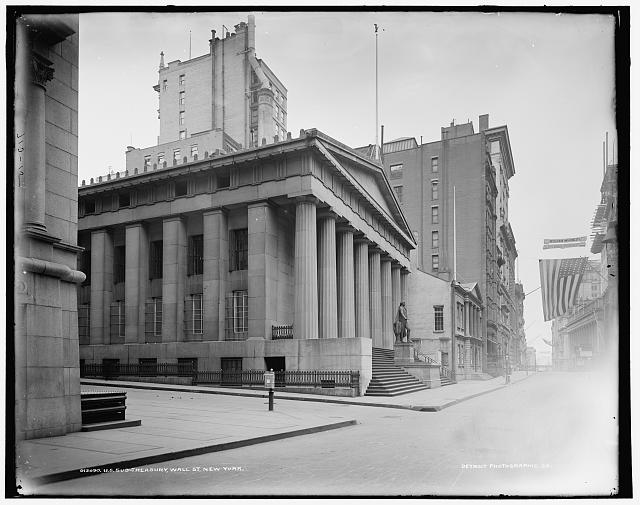U.S. Sub-treasury [Federal Hall], Wall St., New York