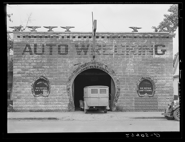 Blacksmith shop now used for auto repair. Glendive, Montana