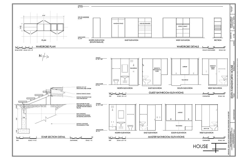 Bathroom Elevations Wardrobe Plans Amp Details And Stair
