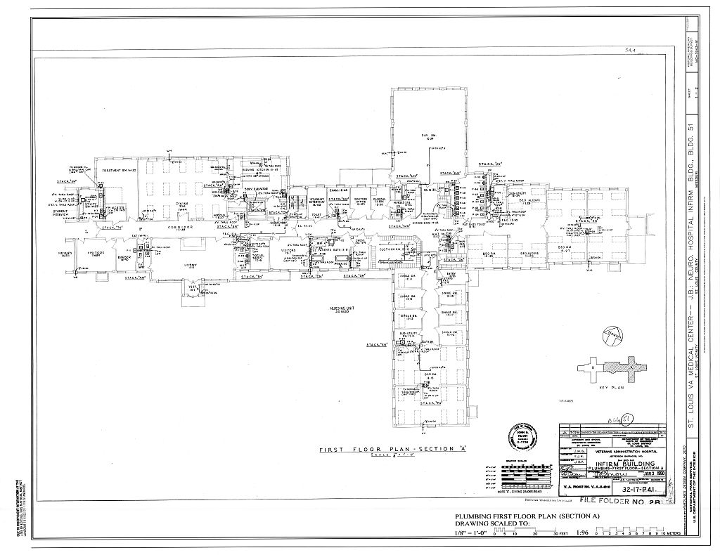 Plumbing First Floor Plan Section A