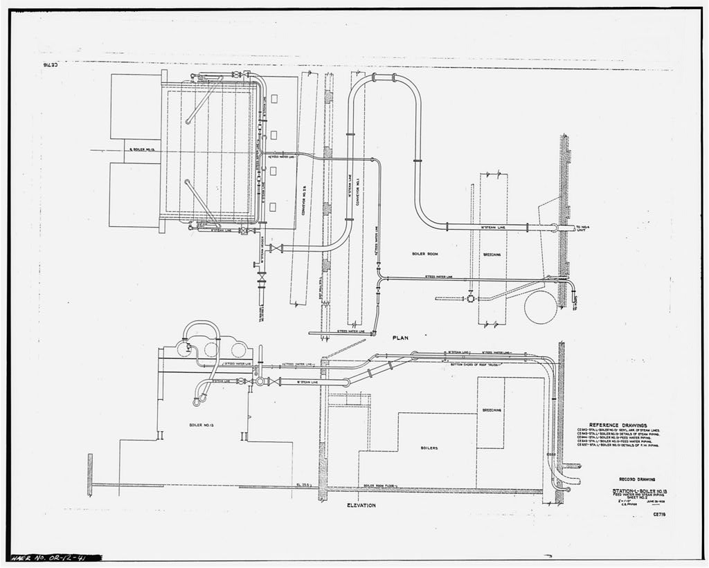 41 Photocopy Of Scale Drawing From Station L Office
