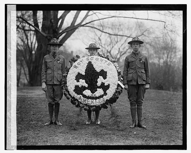 Boy Scout wreath, 1924 - Library of Congress Digital Collection, National Photo Company Collection