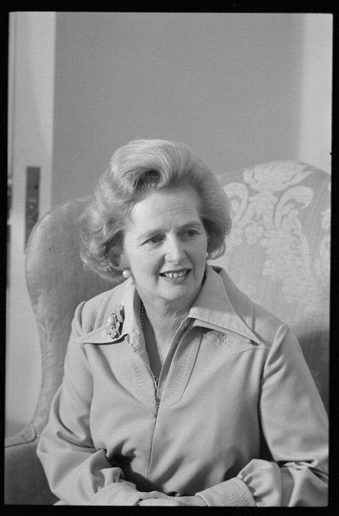 Margaret Thatcher circa 1975; from the Library of Congress