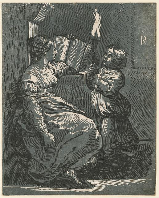 Sibyl reading a book