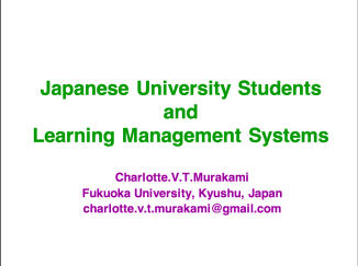 JAPANESE UNIVERSITY STUDENTS AND LEARNING MANAGEMENT SYSTEMS