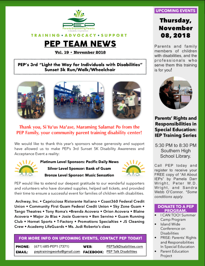 Empowering Parents In Special Education >> Pep Team News Volume 19 Leadership In Disabilities Achievement