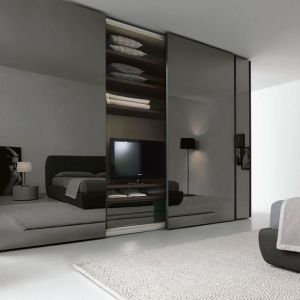 glass mirror wardrobe doors