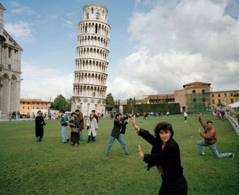 ITALY. Pisa. The Leaning Tower of Pisa. From 'Small World'. 1990.