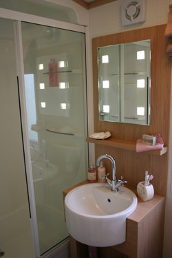 The washroom in the Pemberton holiday home
