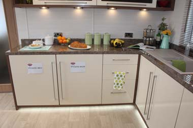 Carnaby Willow Plinth and under shelf lighting are a feature of the kitchen