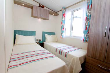 Victory Vermont static caravan Twin bedroom