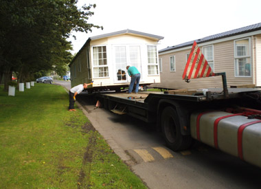 Contractors take on the long and arduous task of resiting a static caravan