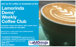 LDC Weekly Coffee Club with pic of Cappicino