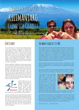 kilimanjaro charity leaflet