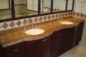 Granite Countertop with Double Half Bulnouse edge
