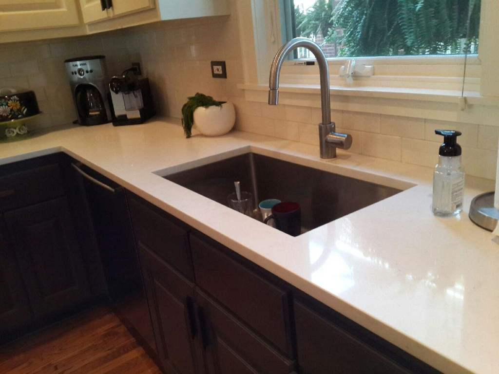 Caesarstone countertops chicago archives ldk countertops archive ldk countertops - Caesarstone sink kitchen ...