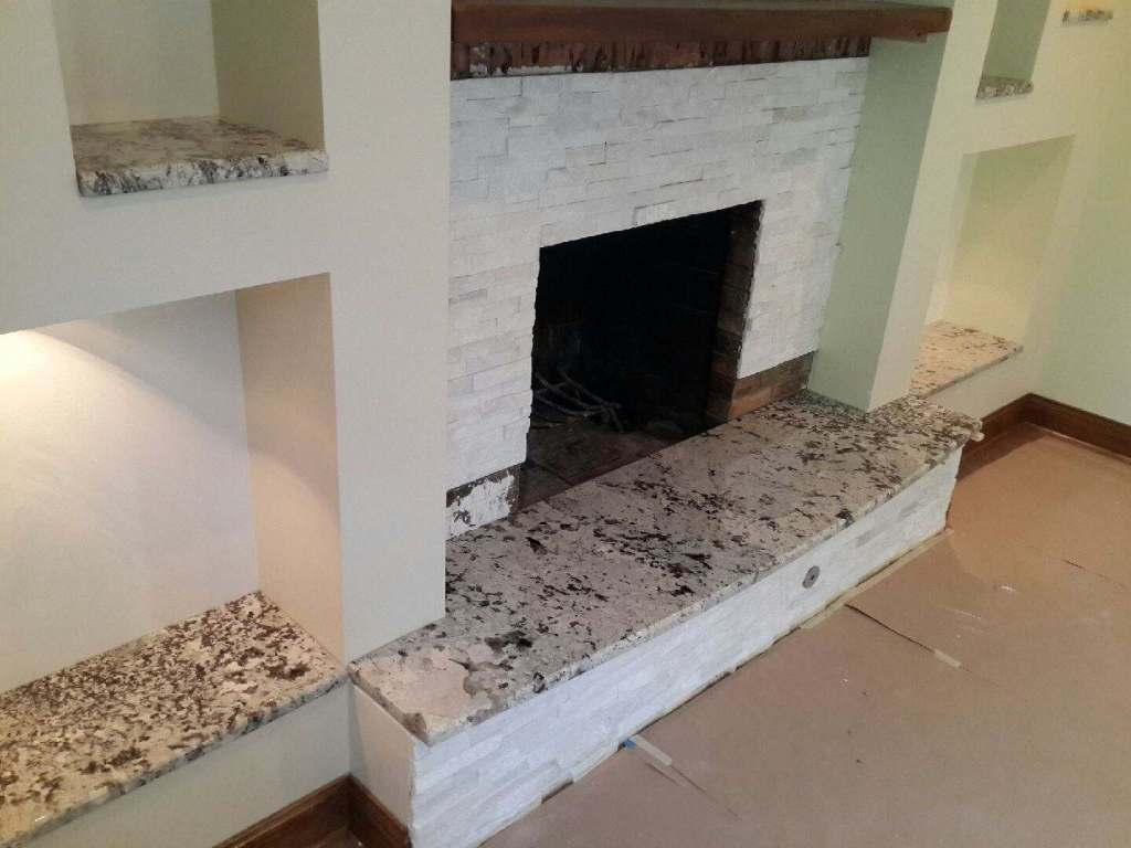 Juparana Persa granite fireplace Hearth