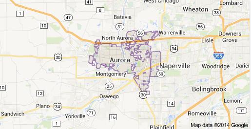 Aurora IL Service area