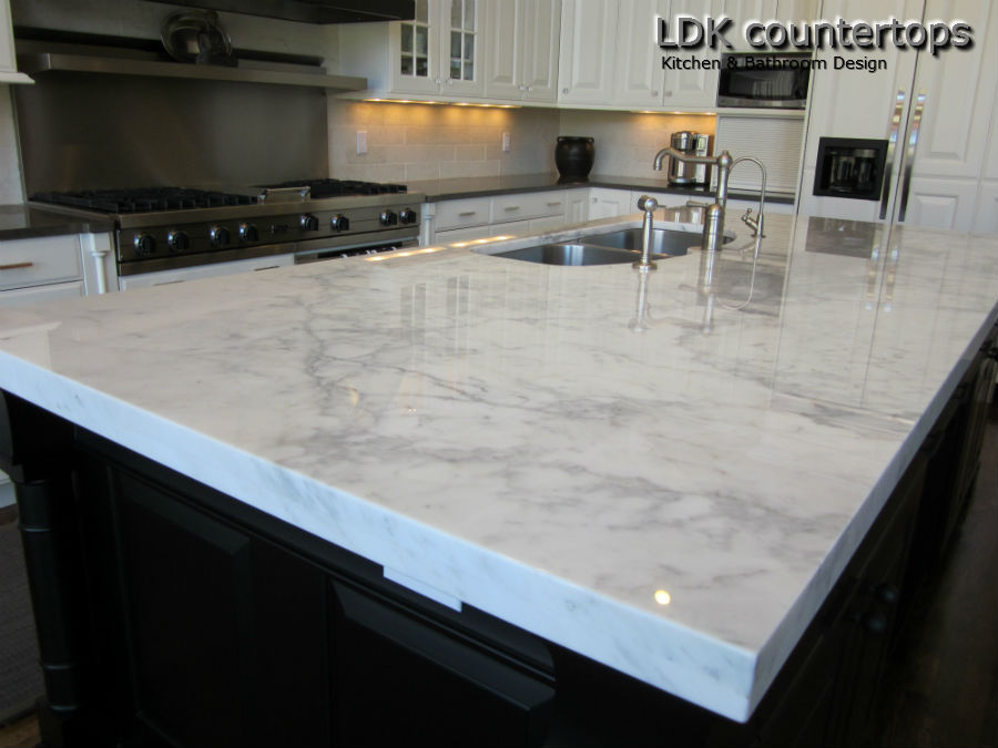 White Marble Counter : White granite countertops ldk