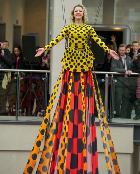 Trinity Leeds shopping centre: The world's longest designer dres