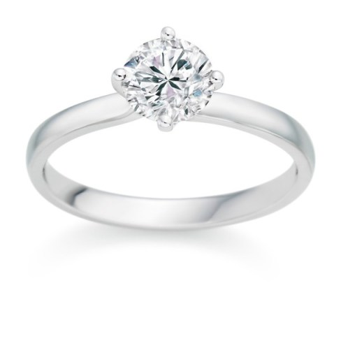 Round Cut 0.25 Carat D VS1 18k  White Gold Diamond Engagement Ring