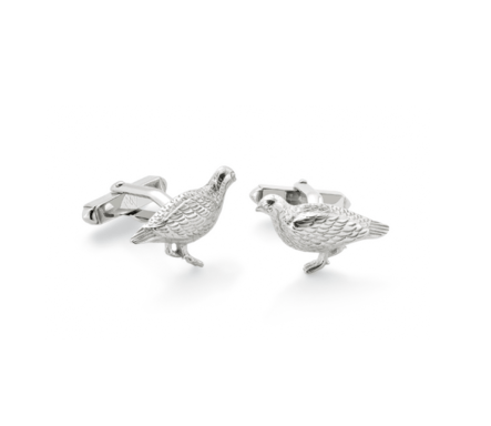 Mappin & Webb Grouse Sterling Silver Cufflinks