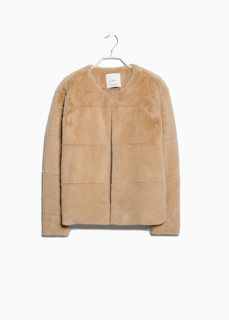 3 - Mango Faux Fur Jacket £59.99