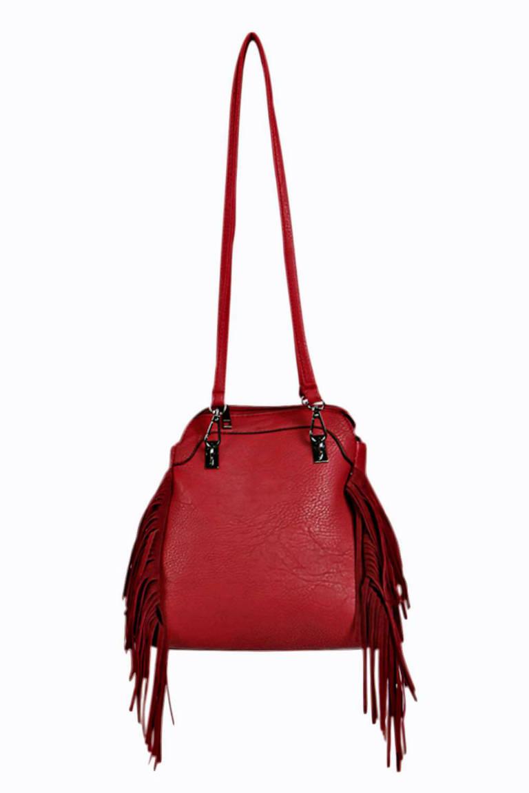 Boohoo Faye Tassel Detail Cross Body Bag