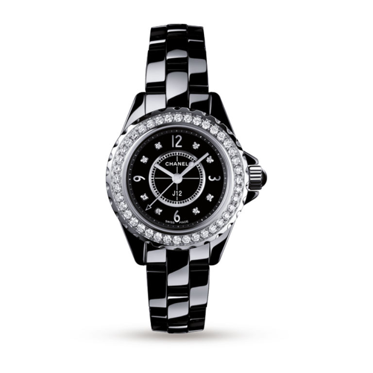 Chanel J12 Diamond Set Ladies Watch