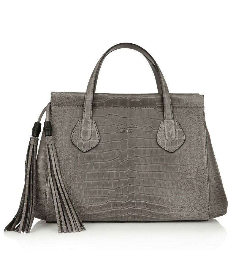 Lady Tassel Crocodile Tote