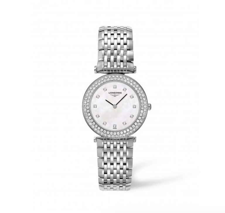 Longines La Grande Classique ladies' diamond-set mother of pearl dial bracelet watch
