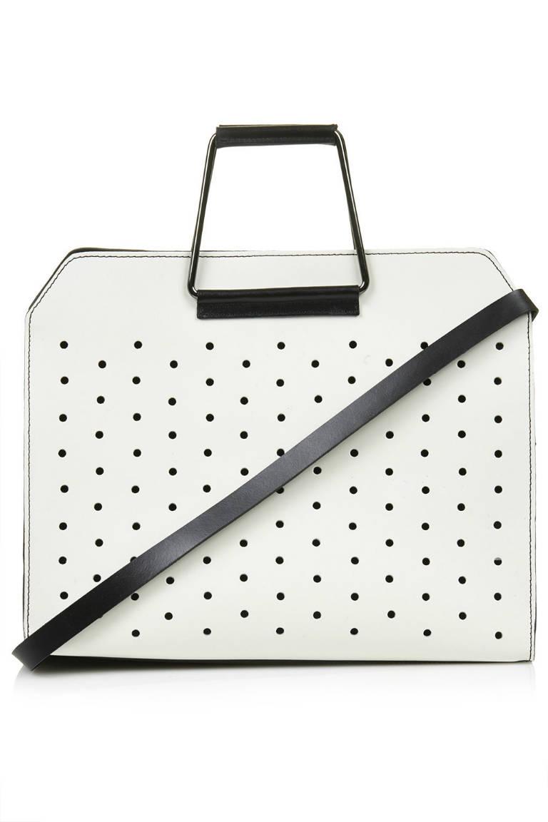 Topshop Premium Leather Boxy Shopper Bag