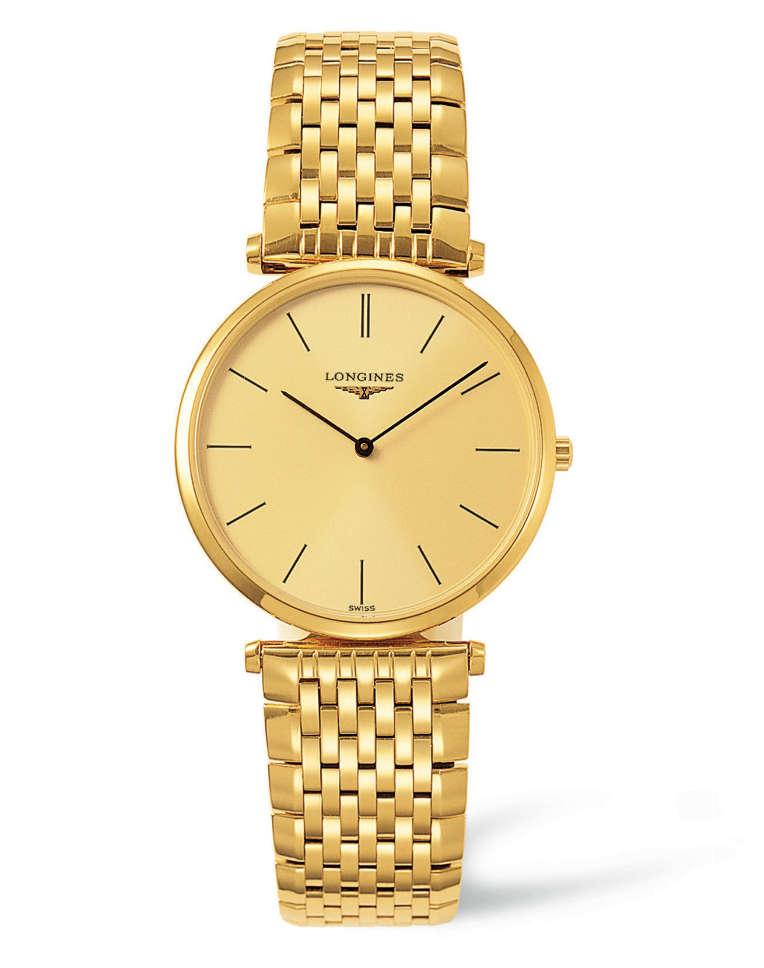 Longines La Grande Classique men's gold-tone bracelet watch