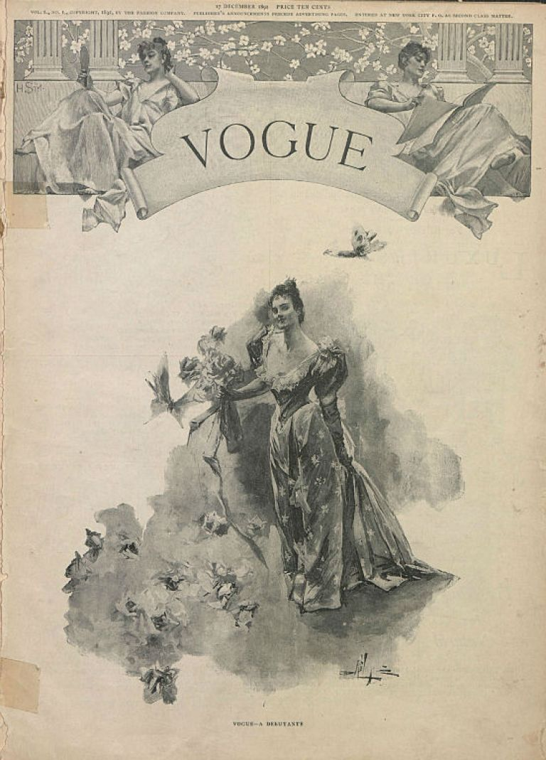 first vogue cover 1892