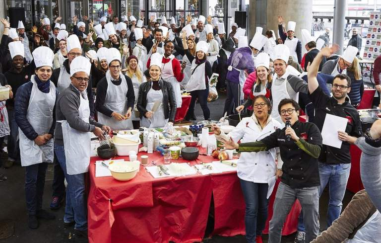 #Wokfor1000 will attempt to cook 1000+ meals in one day in Borough Market 19