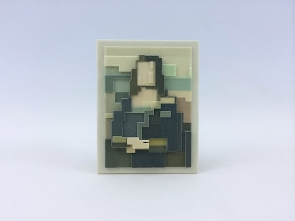 # 這些水彩畫作要瞇著眼睛看: Adam Lister 汲取藝術作及流行文化的8位元水彩作品 16