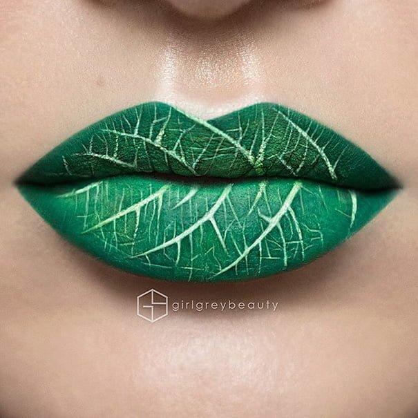 # 最極致的唇妝藝術 :看化妝師 Andrea Reed 把嘴唇當畫布畫出神奈川大波 3