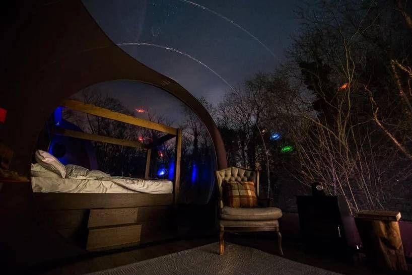 # 360 度全透明泡泡小屋仰望浩瀚星空夜景:就在北愛爾蘭的芬恩湖度假村上 4