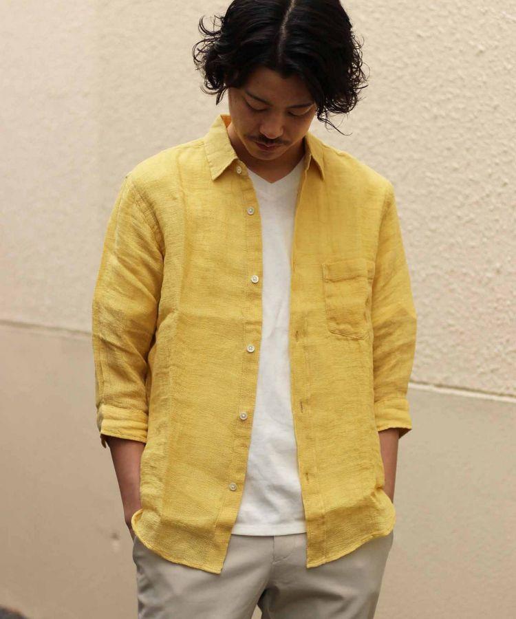 # JOURNAL STANDARD 抗暑對策:來自法國亞麻製的七分袖襯衫 6