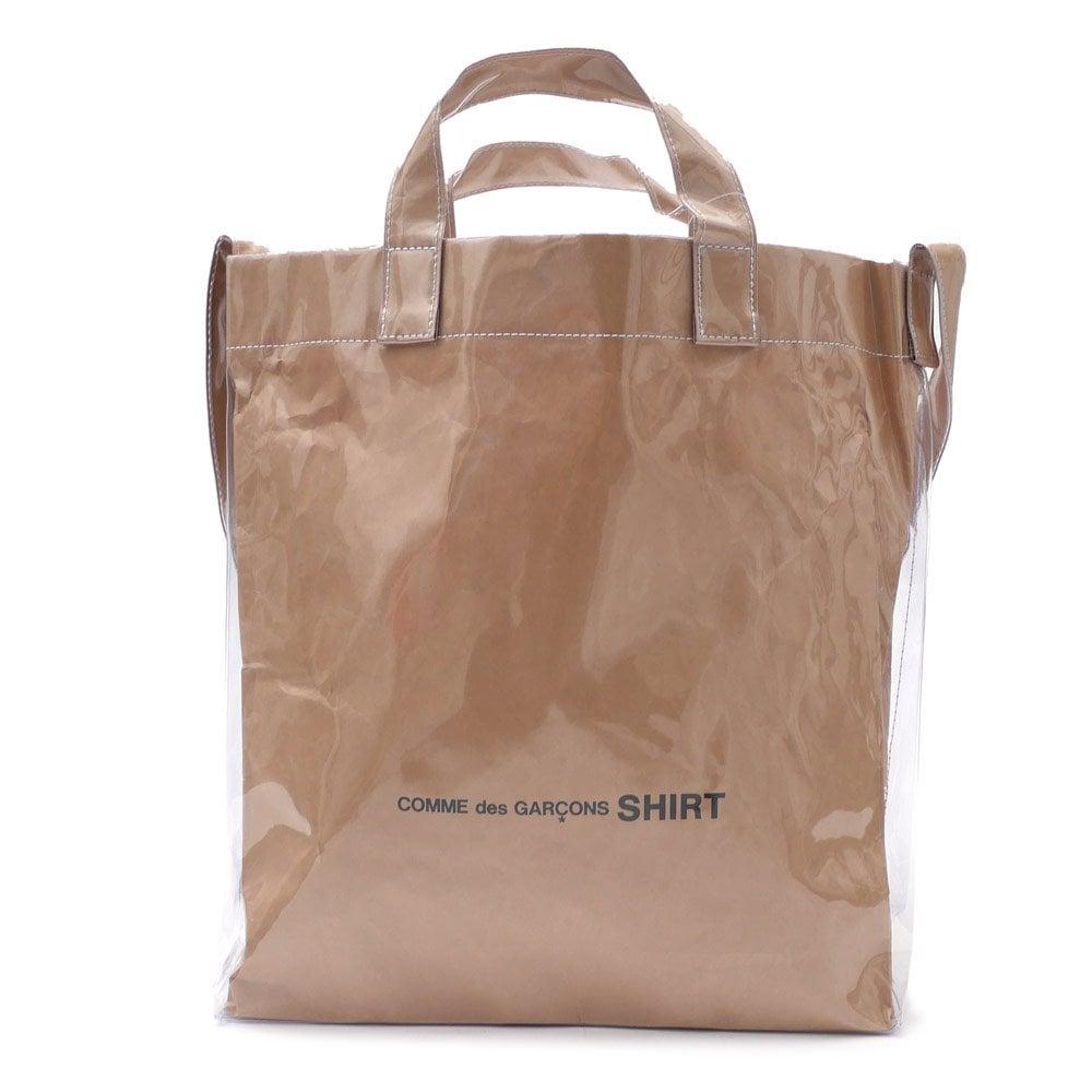 1.Comme des Garcons PVC Paper Shopper Tote Bag