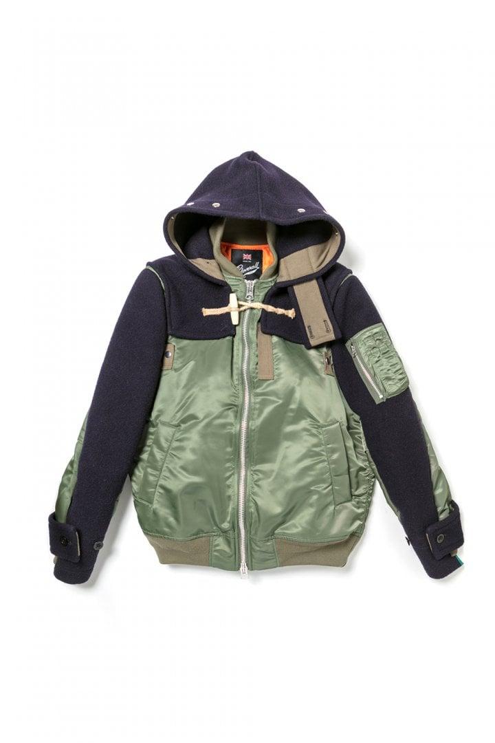 # sacai × Gloverall:牛角扣大衣+MA-1!運用解構美學重新詮釋冬季保暖服 8