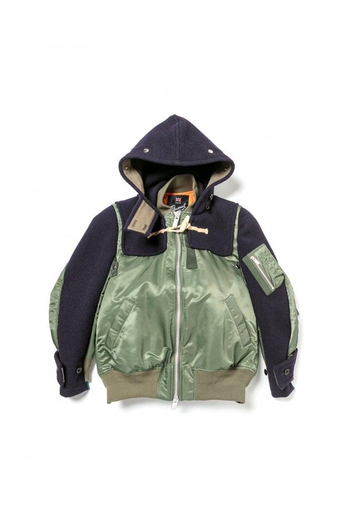 # sacai × Gloverall:牛角扣大衣+MA-1!運用解構美學重新詮釋冬季保暖服 9