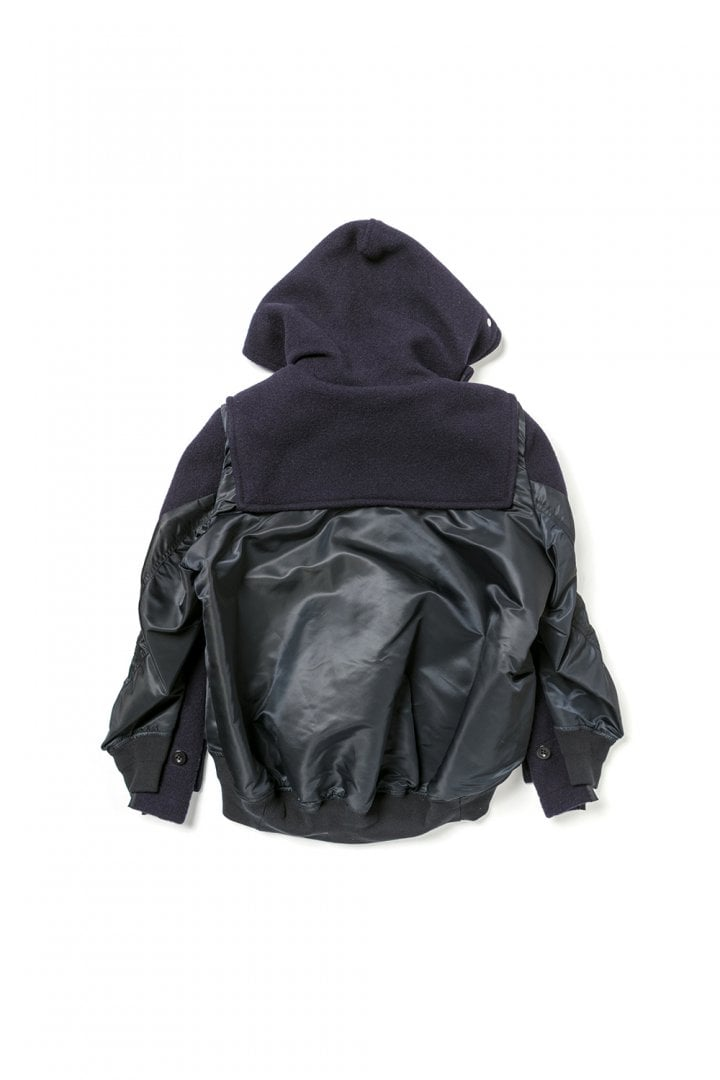 # sacai × Gloverall:牛角扣大衣+MA-1!運用解構美學重新詮釋冬季保暖服 12