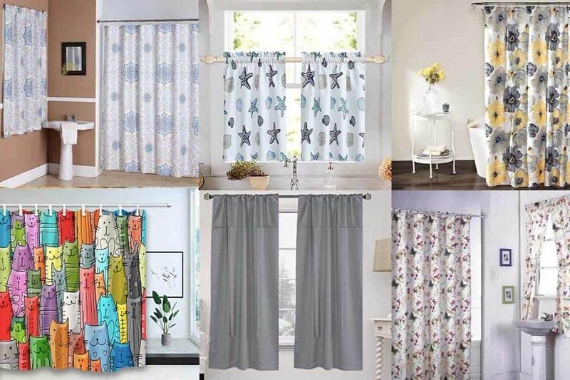 bathroom curtains types of fabrics and ideas to decorate idphub