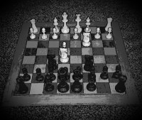 Chess board strategy image.